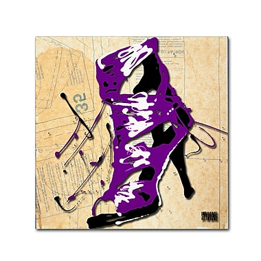 Trademark Fine Art Roderick Stevens 'Purple Strap Boot' 24 x 24 (RS986-C2424GG)