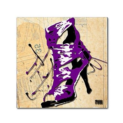 Trademark Fine Art Roderick Stevens 'Purple Strap Boot' 18 x 18 (RS986-C1818GG)