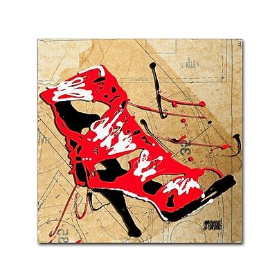 Trademark Fine Art Roderick Stevens 'Red Strap Boot' 14 x 14 (RS988-C1414GG)