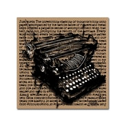 Trademark Fine Art Roderick Stevens 'Three-Quarter Typewriter'  14 x 14 (RS989-C1414GG)