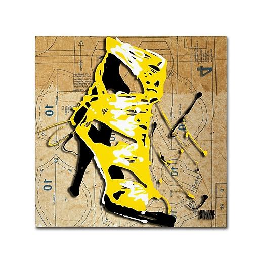 Trademark Fine Art Roderick Stevens 'Yellow Strap Boot'  18 x 18 (RS990-C1818GG)