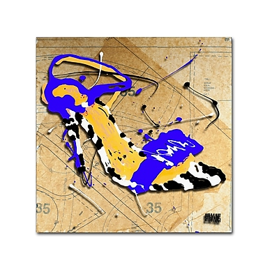 Trademark Fine Art Roderick Stevens 'Zebra Heel Blue' 24 x 24 (RS991-C2424GG)