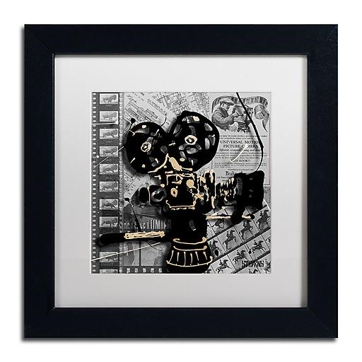 Trademark Fine Art Roderick Stevens 'Movie Camera'  11 x 11 (RS1002-B1111MF)