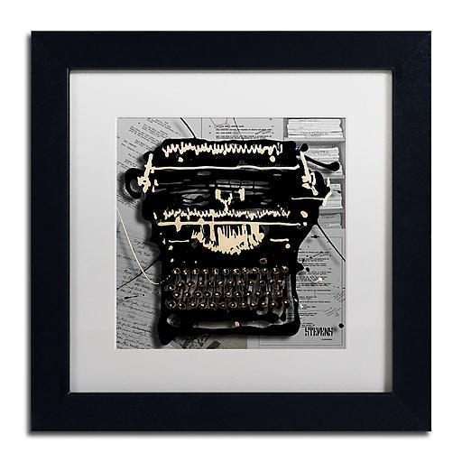 Trademark Fine Art Roderick Stevens 'Movie Typewriter'  11 x 11 (RS1005-B1111MF)