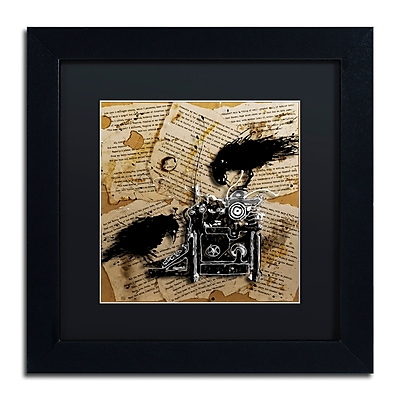 Trademark Fine Art Roderick Stevens 'Quoth the Raven 1' 11 x 11 (RS1010-B1111BMF)