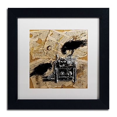 Trademark Fine Art Roderick Stevens 'Quoth the Raven 1' 11 x 11 (RS1010-B1111MF)