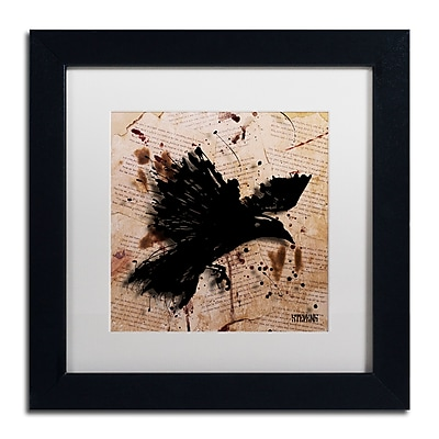 Trademark Fine Art Roderick Stevens 'The Raven 1' 11 x 11 (RS1011-B1111MF)