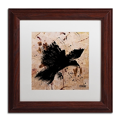 Trademark Fine Art Roderick Stevens 'The Raven 1' 11 x 11 (RS1011-W1111MF)
