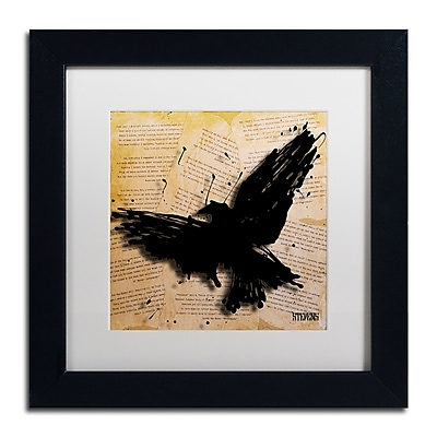 Trademark Fine Art Roderick Stevens 'The Raven 2' 11 x 11 (RS1012-B1111MF)