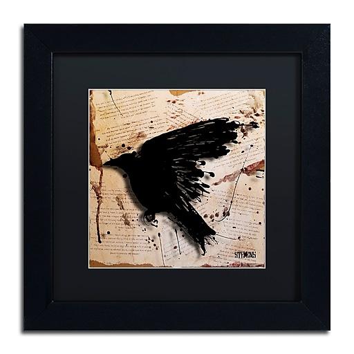 Trademark Fine Art Roderick Stevens 'The Raven 3'  11 x 11 (RS1013-B1111BMF)