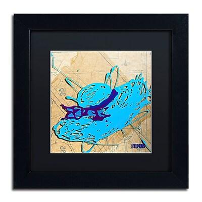 Trademark Fine Art Roderick Stevens 'Blue Floppy Purple Bow' 11 x 11 (RS977-B1111BMF)