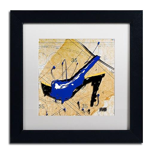 Trademark Fine Art Roderick Stevens 'Blue Heel'  11 x 11 (RS978-B1111MF)