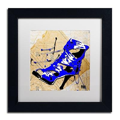 Trademark Fine Art Roderick Stevens 'Blue Strap Boot' 11 x 11 (RS979-B1111MF)