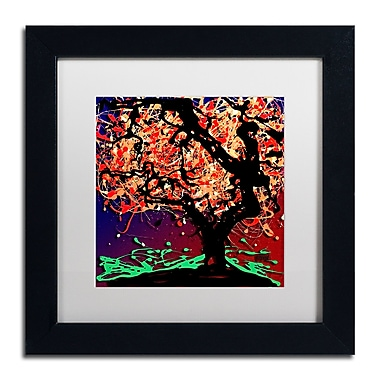 Trademark Fine Art Roderick Stevens 'Fall Red Tree' 11 x 11 (RS981-B1111MF)