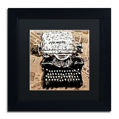 Trademark Fine Art Roderick Stevens 'Just Words 1' 11 x 11 (RS982-B1111BMF)