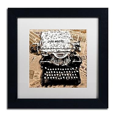 Trademark Fine Art Roderick Stevens 'Just Words 1' 11 x 11 (RS982-B1111MF)