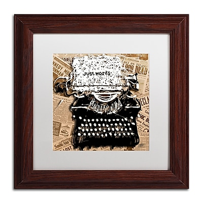 Trademark Fine Art Roderick Stevens 'Just Words 1' 11 x 11 (RS982-W1111MF)