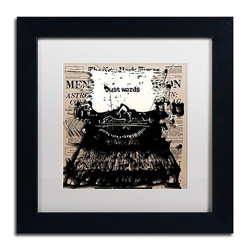 Trademark Fine Art Roderick Stevens 'Just Words 2'  11 x 11 (RS983-B1111MF)