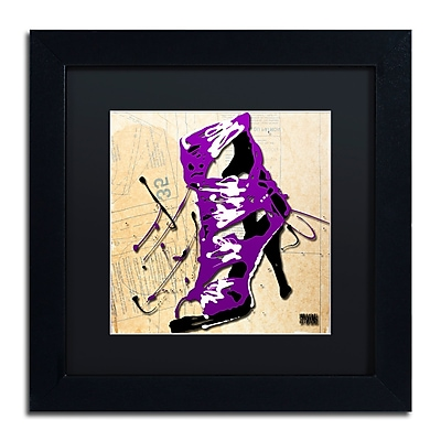 Trademark Fine Art Roderick Stevens 'Purple Strap Boot' 11 x 11 (RS986-B1111BMF)