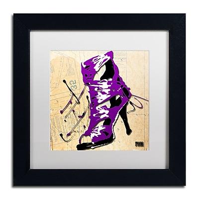 Trademark Fine Art Roderick Stevens 'Purple Strap Boot' 11 x 11 (RS986-B1111MF)