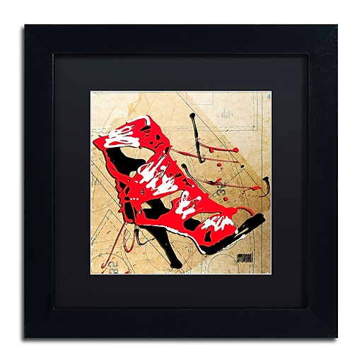 Trademark Fine Art Roderick Stevens 'Red Strap Boot'  11 x 11 (RS988-B1111BMF)
