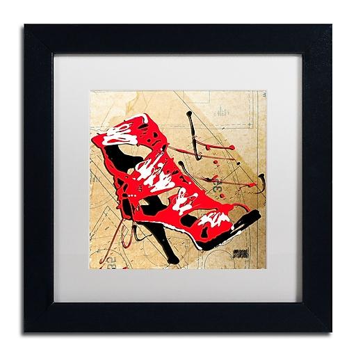 Trademark Fine Art Roderick Stevens 'Red Strap Boot'  11 x 11 (RS988-B1111MF)