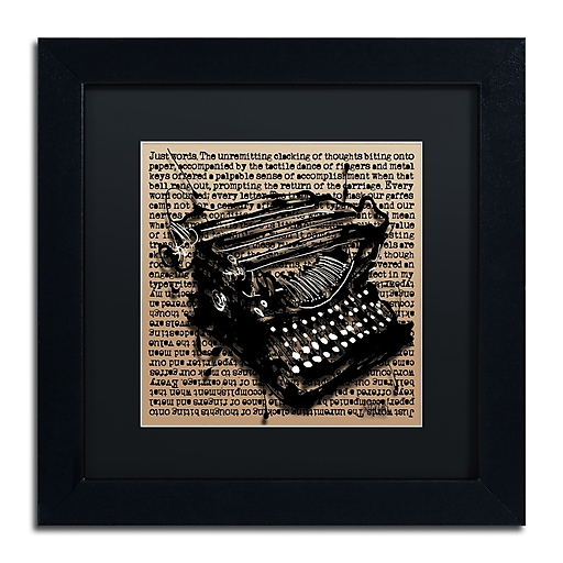 Trademark Fine Art Roderick Stevens 'Three-Quarter Typewriter'  11 x 11 (RS989-B1111BMF)