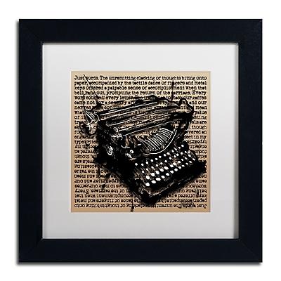 Trademark Fine Art Roderick Stevens 'Three-Quarter Typewriter' 11 x 11 (RS989-B1111MF)