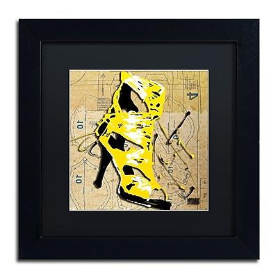Trademark Fine Art Roderick Stevens 'Yellow Strap Boot' 11 x 11 (RS990-B1111BMF)