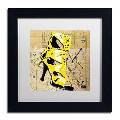 Trademark Fine Art Roderick Stevens 'Yellow Strap Boot' 11 x 11 (RS990-B1111MF)