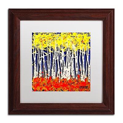 Trademark Fine Art Roderick Stevens 'White Aspens' 11 x 11 (RS994-W1111MF)
