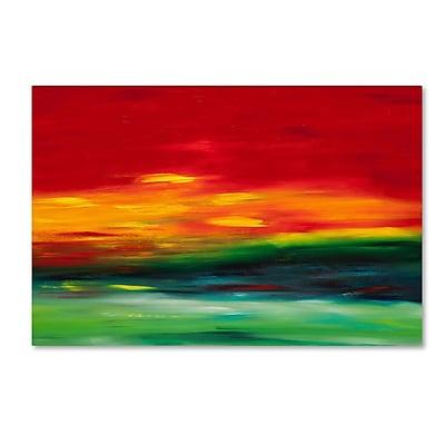Trademark Fine Art Hilary Winfield 'Island Sky 2' 12 x 19 (ALI0721-C1219GG)