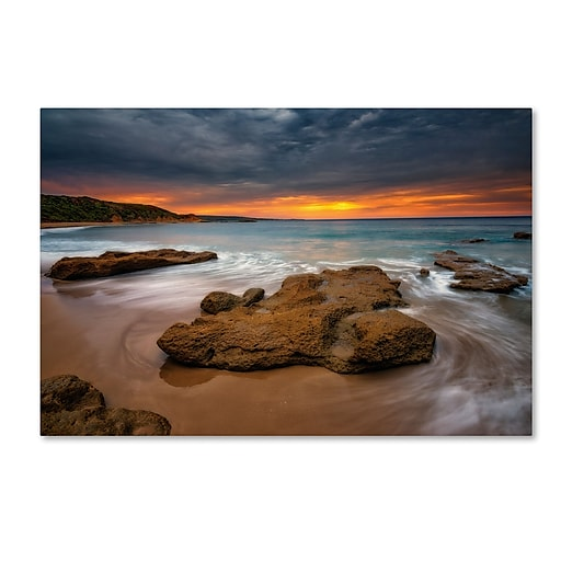 Trademark Fine Art Lincoln Harrison 'Beach at Sunset 5'  22 x 32 (ALI0727-C2232GG)