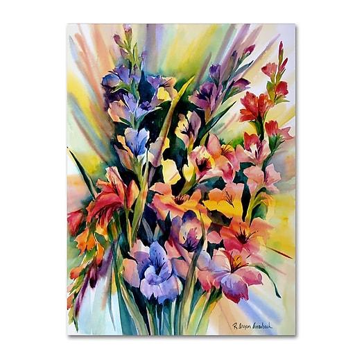Trademark Fine Art Rita Auerbach 'Glad Bursts'  18 x 24 (ALI0735-C1824GG)