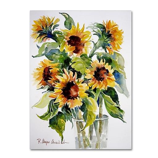 Trademark Fine Art Rita Auerbach 'Sunflowers'  24 x 32 (ALI0738-C2432GG)