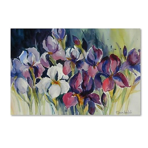 Trademark Fine Art Rita Auerbach 'White Iris'  22 x 32 (ALI0739-C2232GG)