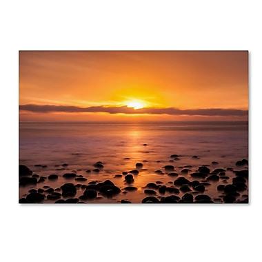 Trademark Fine Art Chris Moyer 'Pacific Sunset' 22 x 32 (ALI0765-C2232GG)