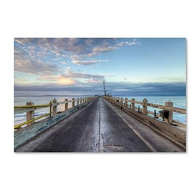 Trademark Fine Art Chris Moyer 'Carpinteria Pier View I' 12 x 19 (ALI0771-C1219GG)