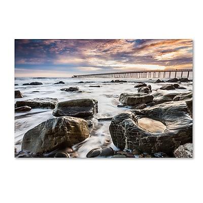 Trademark Fine Art Chris Moyer 'Goleta Shores' 12 x 19 (ALI0776-C1219GG)
