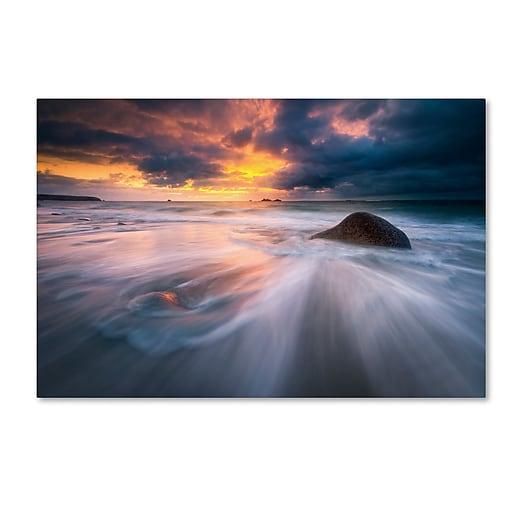 Trademark Fine Art Mathieu Rivrin 'Ocean Painting'  16 x 24 (RV0039-C1624GG)