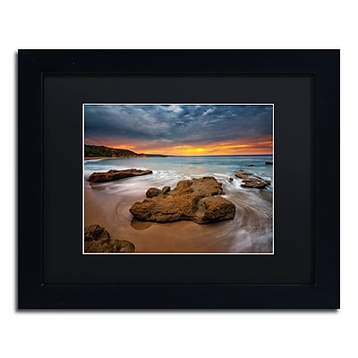 Trademark Fine Art Lincoln Harrison 'Beach at Sunset 5' 11 x 14 (886511728509)