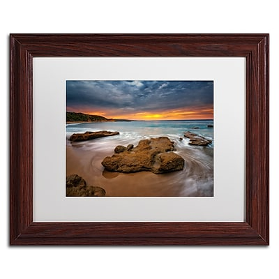 Trademark Fine Art Lincoln Harrison 'Beach at Sunset 5' 11 x 14 (ALI0727-W1114MF)