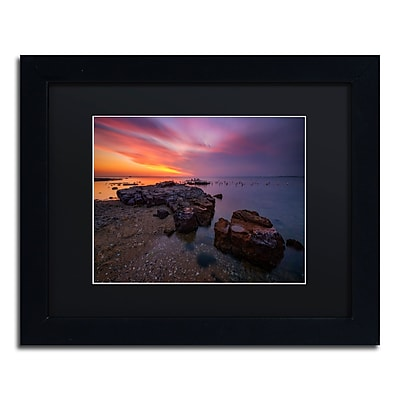 Trademark Fine Art Lincoln Harrison 'Beach at Sunset 6' 11 x 14 (886511728622)