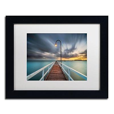 Trademark Fine Art Lincoln Harrison 'Lagoon Pier 2' 11 x 14 (ALI0730-B1114MF)