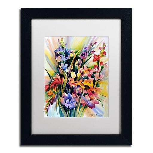 Trademark Fine Art Rita Auerbach 'Glad Bursts'  11 x 14 (ALI0735-B1114MF)