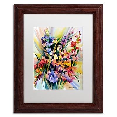 Trademark Fine Art Rita Auerbach 'Glad Bursts' 11 x 14 (ALI0735-W1114MF)