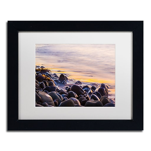 Trademark Fine Art Chris Moyer 'Wet Rock Reflections'  11 x 14 (ALI0767-B1114MF)