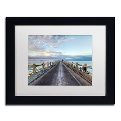 Trademark Fine Art Chris Moyer 'Carpinteria Pier View I' 11 x 14 (ALI0771-B1114MF)