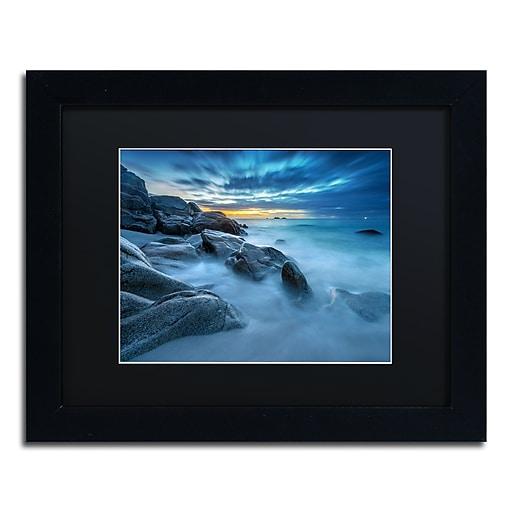 Trademark Fine Art Mathieu Rivrin 'Blue Hour for a Blue Ocean'  11 x 14 (RV0033-B1114BMF)