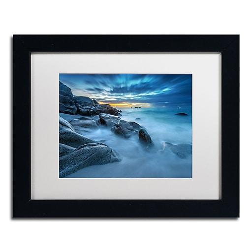 Trademark Fine Art Mathieu Rivrin 'Blue Hour for a Blue Ocean'  11 x 14 (RV0033-B1114MF)